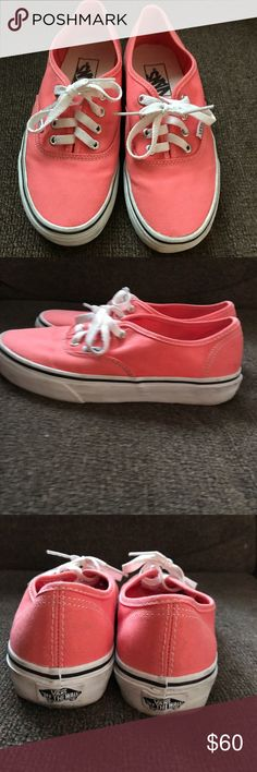 Melon colored vans. Size 7.5 Melon colored vans. Barley worn. Great condition, a couple little dirt scuffs on the white of the shoes that would probably come off. Bought them for 60 at Journeys. will sell for $45 Vans Shoes Athletic Shoes