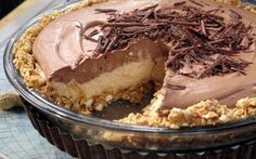 No-Bake Cream Cheese Peanut Butter Pie with Chocolate Whipped Cream by Nadia G (Peanut Butter) @FoodNetwork_UK