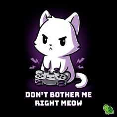 Don't Bother Me Right Meow from TeeTurtle Cute Cartoon Drawings, Cute Animal Drawings, Kawaii Drawings, Cartoon Art, Cartoon Characters, Cute Animal Quotes, Animal Memes, Anime Animals, Cute Animals