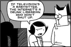 Cat and Girl cartoon