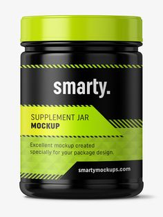 Supplement jar mockup / Glossy