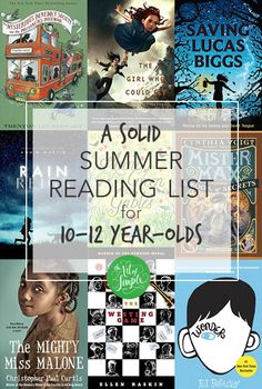 solid summer reading list for year-olds. Complete with printable checklist, to make reading goals fun!A solid summer reading list for year-olds. Complete with printable checklist, to make reading goals fun! Summer Reading Lists, Kids Reading, Reading Help, Reading Club, Reading Nook, Book Suggestions, Book Recommendations, Books For Boys, Childrens Books