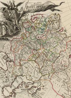 """Il primo """"Atlante della Russia"""", 1745   Fonte: davidrumsey.com"""