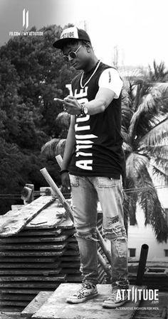 Yeah! You got it right, that's my Attiitude. Nigerian rapper Deen Winchester Bolaji W featuring Attiitude latest collection. #myattiitude #menswear #alternativefashion #streetstyle #swag #lookbook #attiitude #blackandwhite