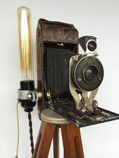 Antique Tripod Floor Lamp Eastman Kodak by ModernArtifactDecor