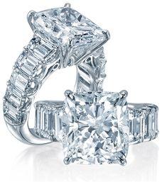 JB Star cushion-cut diamond engagement ring