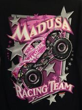 Rare!! MadUSA Racing Team Monster Jam Truck T Shirt -Queen of Carnage- Sz L