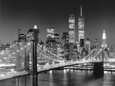 New York City Black and White Wallpaper