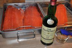 Whisky für den Lachs ;) Kaltgeräucherte Lachsfilets - Räucherlachs selber machen-räucherlachs selber machen-Raeucherlachs04