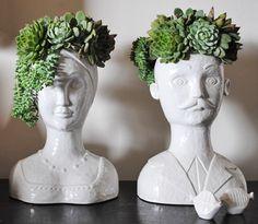 head shaped plant pots - Google Search