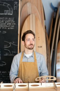 James Otter and his company Otter Surfboards craft hollow wooden surfboards – a beautiful, environmentally-friendly and long-lasting alternative to typical… Surfboard Craft, Wooden Surfboard, Eco Brand, Online Stories, Small Boats, Wooden Art, Water Crafts, Otters, How To Memorize Things