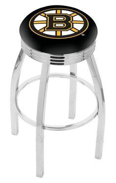 """Boston Bruins 2½"""" Ribbed Ring Bar Stool"""