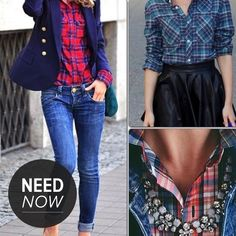 The 8 Flannel Shirts That Can Go From Grunge to Preppy - via @StyleCaster
