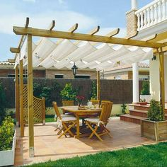 The pergola kits are the easiest and quickest way to build a garden pergola. There are lots of do it yourself pergola kits available to you so that anyone could easily put them together to construct a new structure at their backyard. Pergola Cost, Pergola Plans, Pergola Lighting