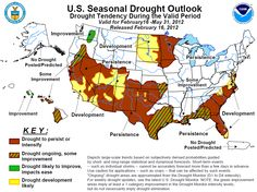 U.S. Drought map.