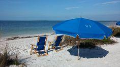 beach chairs at Howard Park, Florida