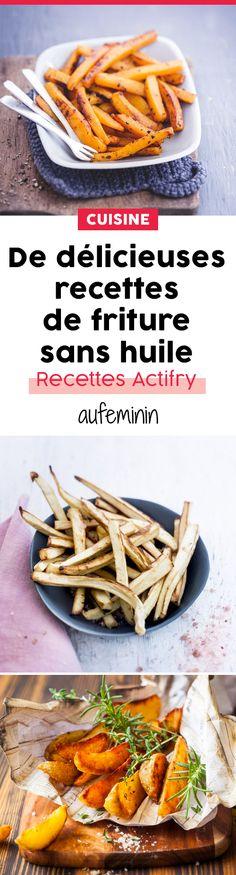 Cuisiner des plats frits .... sans huile, c'est possible ! Découvrez toutes nos délicieuses recetets à l'Actifry ! /// #aufeminin #recetet #actifry #friture #manger #sain #minceur