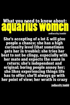 Aquarius women...