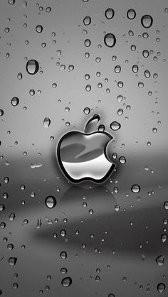 Silver Apple Logo With Water Drops Background Wallpaper - Free iPhone Wallpapers Wallpaper Iphone5, Apple Logo Wallpaper Iphone, Iphone Logo, Iphone 4s, Live Wallpaper For Iphone, Wallpaper Maker, Wallpaper Gallery, Free Iphone, Apple Logo