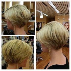 Thin Hairstyles Short Haircuts Stacked