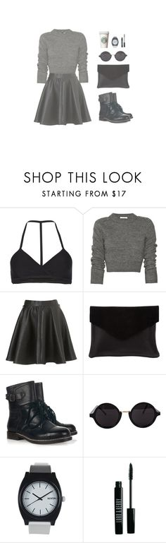 """""""#66 - morning coffee run"""" by na-talie ❤ liked on Polyvore featuring AllSaints, Topshop, Graine, See by Chloé, American Apparel, Nixon, Lord & Berry, women's clothing, women and female"""