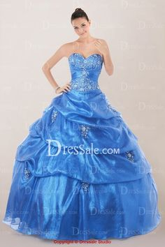 Glamorous Strapless Sweetheart Quinceanera Dress with Beaded Motifs