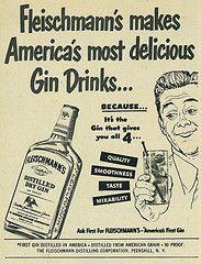 1949 Liquor Ad, Fleischmann's Distilled Dry Gin