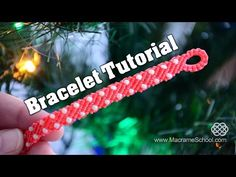 Macramé Stripes with Candies - Easy Bracelet Tutorial - YouTube