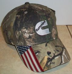 Cummins-Realtree-Camo-USA-hat-Brand-New-With-Tags
