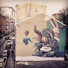 TelmoMiel artist duo have finished this fine wall in Moscow. #isupportstreetart #telmomiel #streetart #wall #photooftheday #Moscow #mural #wallart