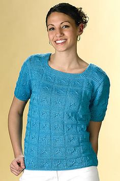 Free Caribbean Blue Tee knitting pattern download courtesy of the Creative Knitting newsletter. Sign up here: www.AnniesNewsletters.com. Download here: http://www.creativeknittingmagazine.com/newsletters/creativeknitting/pages/CKNL2408_patt.html