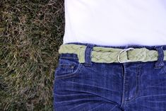 braided belt tutorial  Want another great way to use old T-shirts? Well...how about a braided belt?