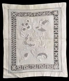 Royal School of Needlework Collection Jacobean Embroidery, Types Of Embroidery, White Embroidery, Ribbon Embroidery, Art Tribal, Drawn Thread, Cut Work, Needle Lace, Back Stitch
