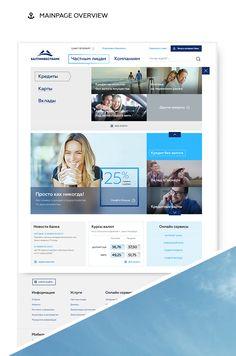 BaltInvestBank Website on Behance