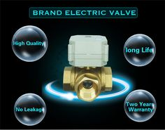 TF20-BH3-C, Brass 3/4'' (DN20) 3 Way T/L Type Horizontal Electric Flow Control Valve TF20-BH3-C AC110 to 230V 3Wires
