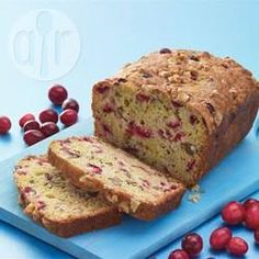 Recipe photo: Cranberry orange walnut cake