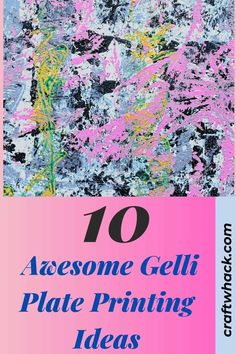 Have you tried Gelli plate printing yet? You must! Craftwhack came across this unusual art medium and we were hooked. It is so much fun to create with and you will always be pleased with the results. You will appreciate its versatility and you really cannot make a mistake. Check out which materials you can use with your Gelli plate (like stencils) to create your work of art. We provide you with 10 awesome ideas to get you started. These tips and tricks are here. #gelliplate #printing…