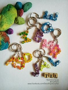 Quilling letter Keychain Follow me on Instagram @rrcchhllll