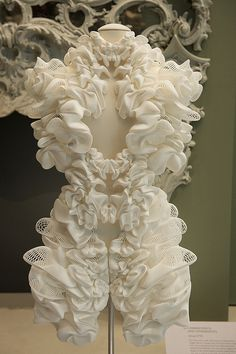 'Escapism' dress | Designed by Iris van Herpen, The Netherlands, and Daniel Widrig, Germany, 2011 Produced by Materialise, Belgium | Photo ©Victoria and Albert Museum, London