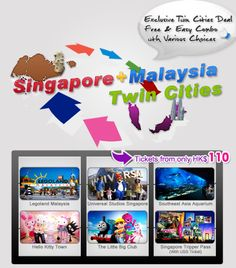 Singapore + Malaysia Twin Cities - Exclusive Twin Cities Deal, Free & Easy Combo wth Various Choices - Tickets from only HK$110, Details: http://www.asiatravelcare.com/mktg/20130104-eng.htm