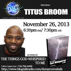 Join Author Titus Broom on DeMarco Real Talk!