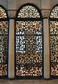 decorative screen at Hagia Sophia, Instanbul, Turkey