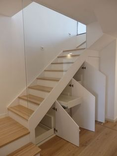 Staircase with lower cabinets Staircase with lower cabinets Staircase with lower cabinets Sta. Home Staircase with lower cabin Staircase Storage, House Staircase, Loft Stairs, Staircase Makeover, Staircase Railings, Stair Storage, Staircase Ideas, Staircases, Home Stairs Design
