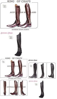 Gaiters Half Chaps 183383: Extreme Leather Gaiters - Black With Purple Piping -> BUY IT NOW ONLY: $69.99 on eBay!
