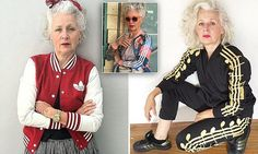 Sydney woman Sarah Adams, 60, is 'Insta famous' after posting images of herself to social media dressed in Adidas sportswear, camo, vintage finds and Southeast Asian-style clothing.