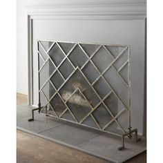 modern fireplace screen - Google Search