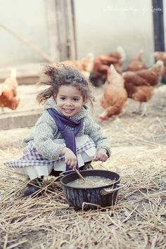 Then I found her, out back, making mud pies for the chickens. I was never so happy to see mud pie in my whole life. Mud Pie at In Fashion Kids