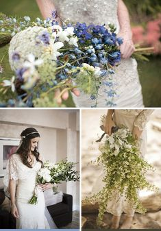 over the arm bouquet inspiration |  whiter than white weddings blog