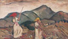 Martin Benka - Hrabačky, 1941 Spring Art, Illustrators, Graphic Art, Illustration Art, Tapestry, Artist, Painting, Europe, Beautiful