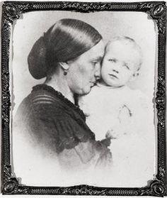 Varina Davis (the second wife of Confederate president Jefferson Davis) and daughter Winnie. c. 1865
